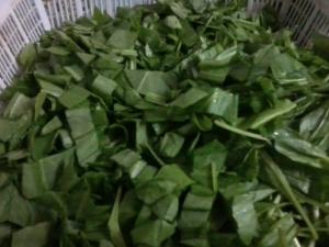 chopped leaves